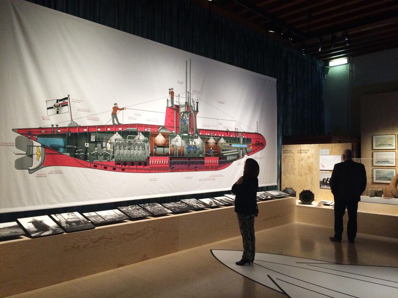 Slag om de Noordzee duikboot door Peter Willems